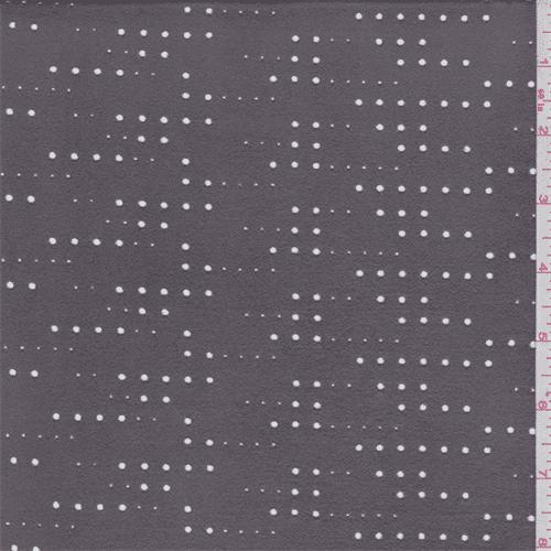 Dark Grey Laser Cut Microsuede Knit, Fabric Sold By the Yard
