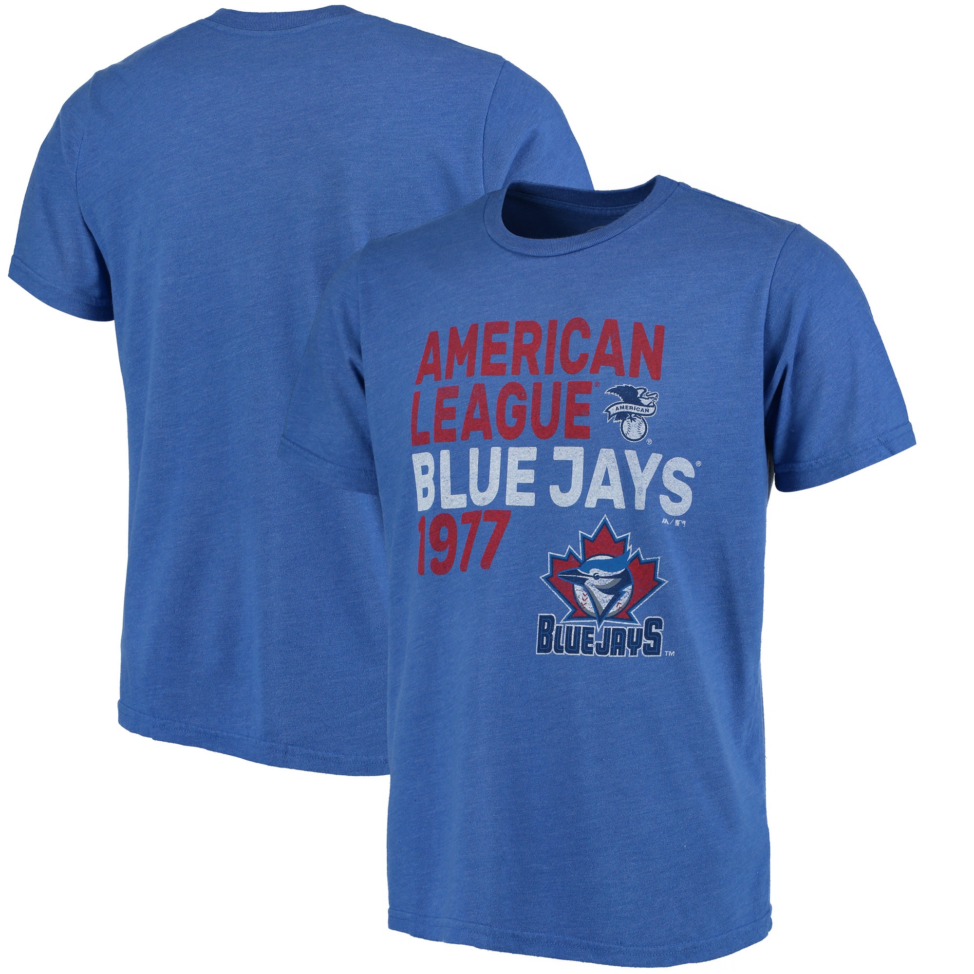 Toronto Blue Jays Majestic Threads Throwback Cooperstown Collection Tri-Blend T-Shirt - Royal
