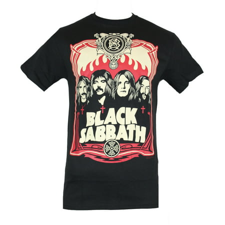 Black Sabbath Mens T-Shirt - Early 70s Art Band Image Box - 70s Clothes Men