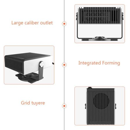 Portable Heater for Car, 12V/24V Car Heater Windshield Defroster with Fan, Powerful Windshield Defogger Heater & Cooling Fan, Plug in Cigarette Lighter, Heating Quickly and Low Noise 12V - image 4 of 8
