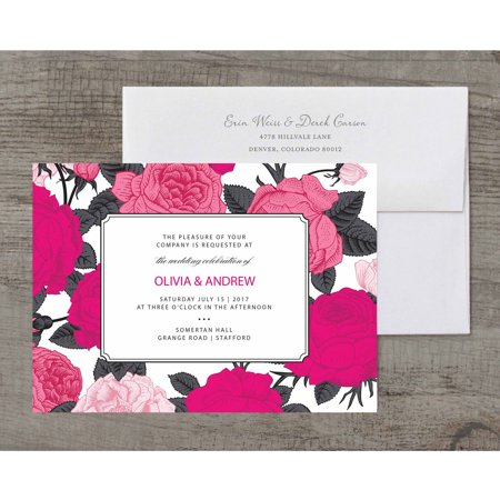Bright Blooms Deluxe Wedding - Pink Safari Baby Shower Invitations