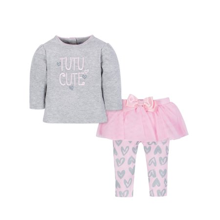 Shirt & Tutu Legging Outfit Set, 2-Piece (Baby Girls) - Tutu Outfit For Baby