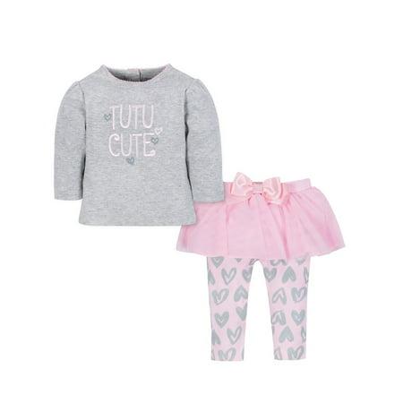 Shirt & Tutu Legging Outfit Set, 2-Piece (Baby Girls)