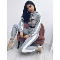 Women'S Sexy Striped Comfort Cotton Super Cut Panel Casual Two Pieces Set