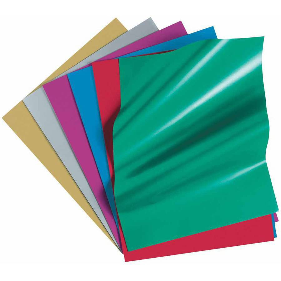 "Pacon Fadeless Acid Free Metallic Paper, 50 Pound, 12"" x 18"", Assorted Colors, Pack of 24"