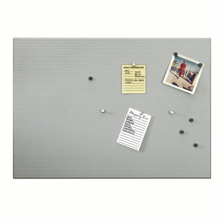 Umbra Bulletin Board (Umbra Bulletboard Magnetic Bulletin Board – Modern Look and Clever Dual Surface Design that Includes 12 Pushpins and 12 Magnets, 21 x 15)