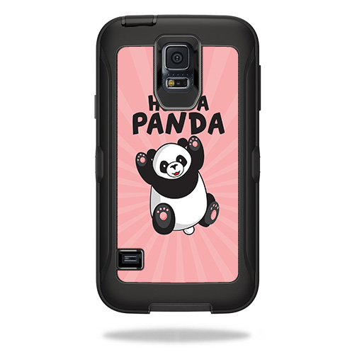 Skin For OtterBox Defender Samsung Galaxy S5  – Hug A Panda | MightySkins Protective, Durable, and Unique Vinyl Decal wrap cover | Easy To Apply, Remove, and Change Styles | Made in the USA