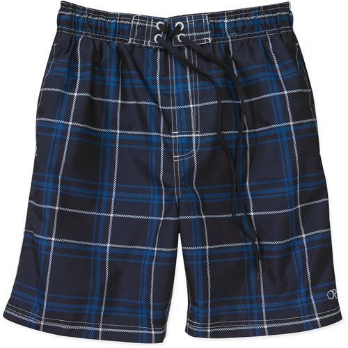 Op - Men's Plaid Splice Swim Shorts  Dar