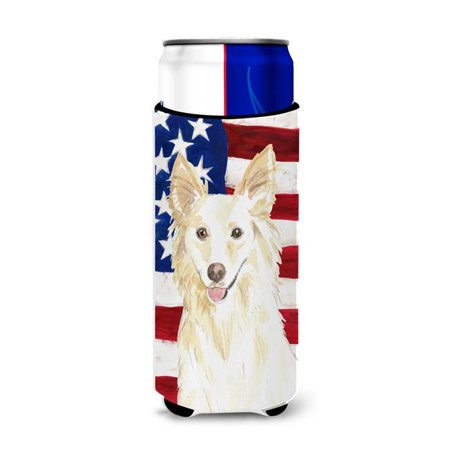 Carolines Treasures CK1708MUK Patriotic USA White Collie Michelob Ultra Hugger for Slim Cans - image 1 of 1