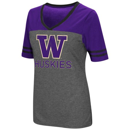 Ladies Colosseum Mctwist University of Washington Jersey T Shirt