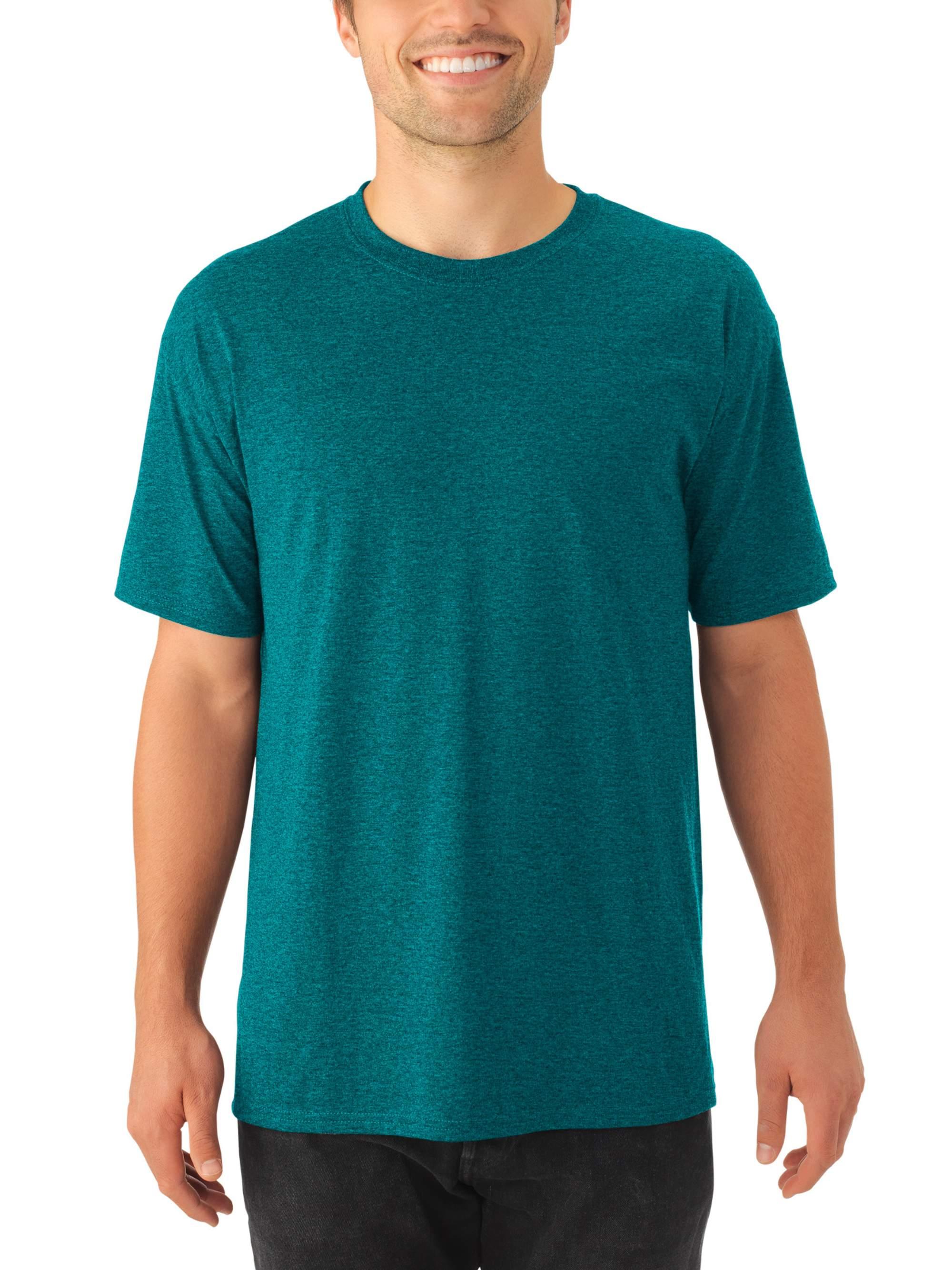 Men's Tri-blend Short Sleeve Crewneck T Shirt, 2 Pack