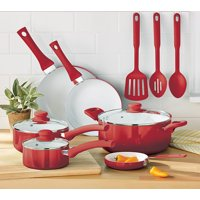 Deals on Mainstays Ceramic Nonstick 12 Piece Cookware Set