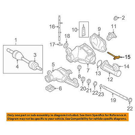 jeep chrysler oem 05-10 grand cherokee front axle carrier-harness  52114327ac - walmart com