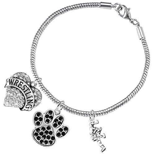 Wrestling Jewelry, Black Crystal Paw Jewelry, ©2015 Hypoallergenic Safe-Nickel, Lead And Cadmium Free!