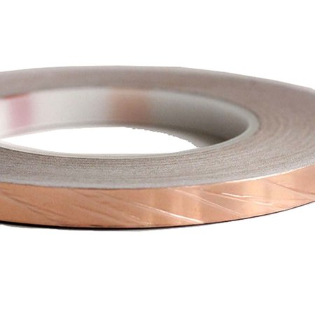1/4 inch x 55 yds Copper Foil Tape(6mm x 50m)EMI Shielding Conductive Adhesive