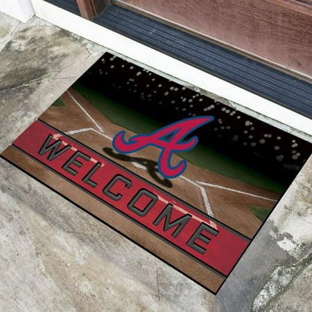 Atlanta Braves Mat - Atlanta Braves Crumb Rubber Door Mat