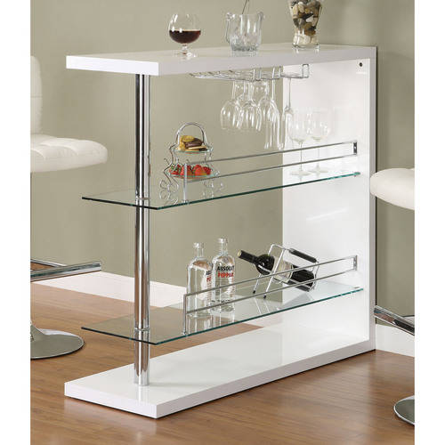 Coaster Contemporary Bar Storage Table, Multiple Finishes