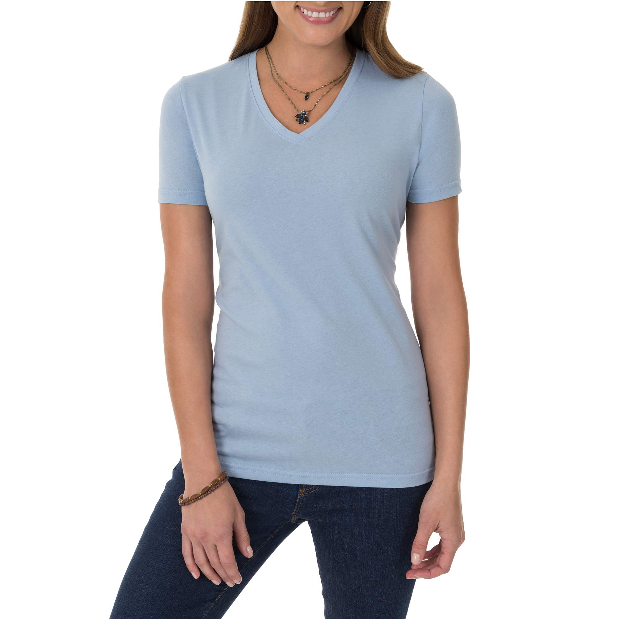 2dd74389520 Time and Tru - Time and Tru Women's Essential Short Sleeve V-Neck T ...