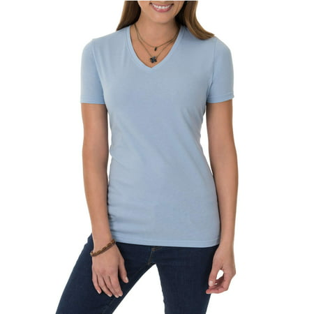 61d8d376f6d Time and Tru - Time and Tru Women s Essential Short Sleeve V-Neck T ...