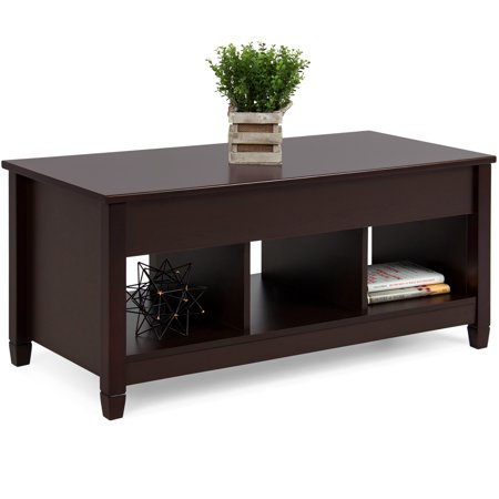 Best Choice Products Wooden Modern Multifunctional Coffee Dining Table for Living Room, Decor, Display with Hidden Storage and Lift Tabletop, Espresso ()