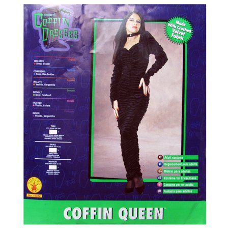 Rubie's Womens Coffin Queen Halloween Costume, Black, S - Diy Coffin Halloween