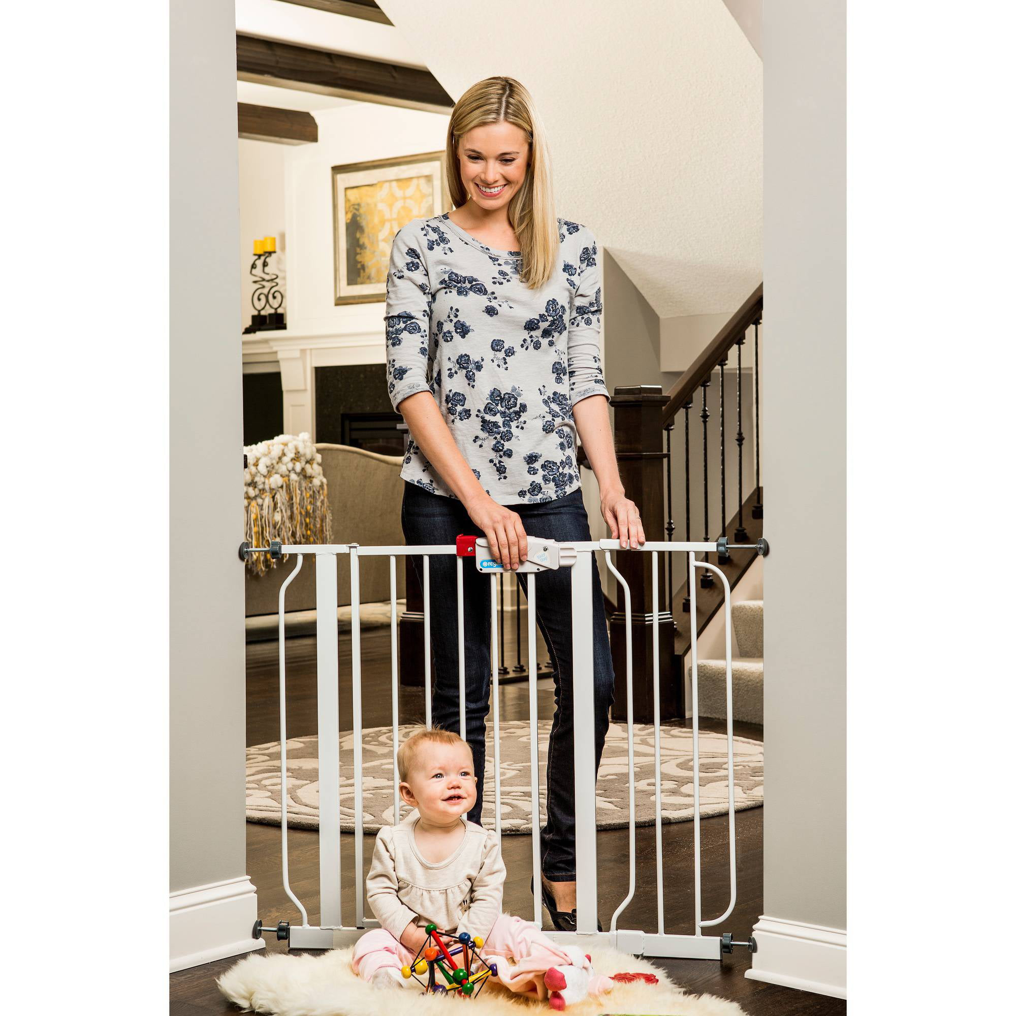 Regalo Easy Step Walk Through Baby Gate Pressure Mount with Included Extension Kit - Walmart.com  sc 1 st  Walmart : baby doors - pezcame.com