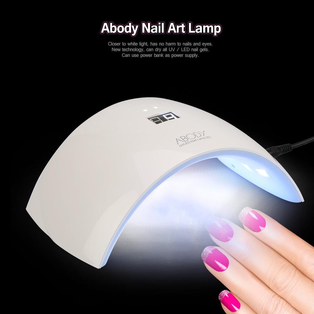 Abody 24W LED UV Lamp Nail Polish Dryer Fingernail & Toenail Gel ...