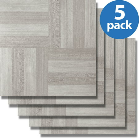 Achim Nexus Ash Grey Wood (5 Cartons-100 Tiles) 12x12 Self Adhesive Vinyl Floor Tile- 100 sq. ft.