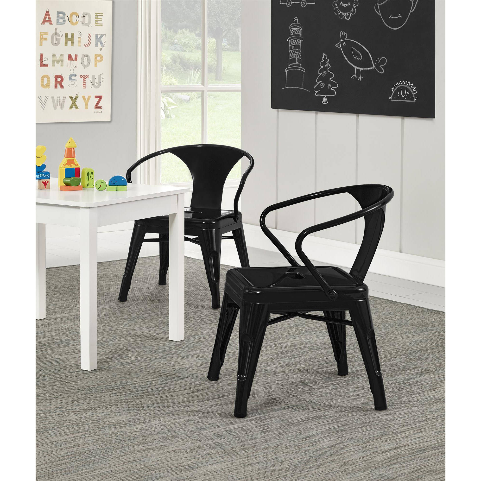 Better Homes and Gardens Metal Kids Chair Set of 2 Multiple Colors - Walmart.com  sc 1 st  Walmart & Better Homes and Gardens Metal Kids Chair Set of 2 Multiple Colors ...