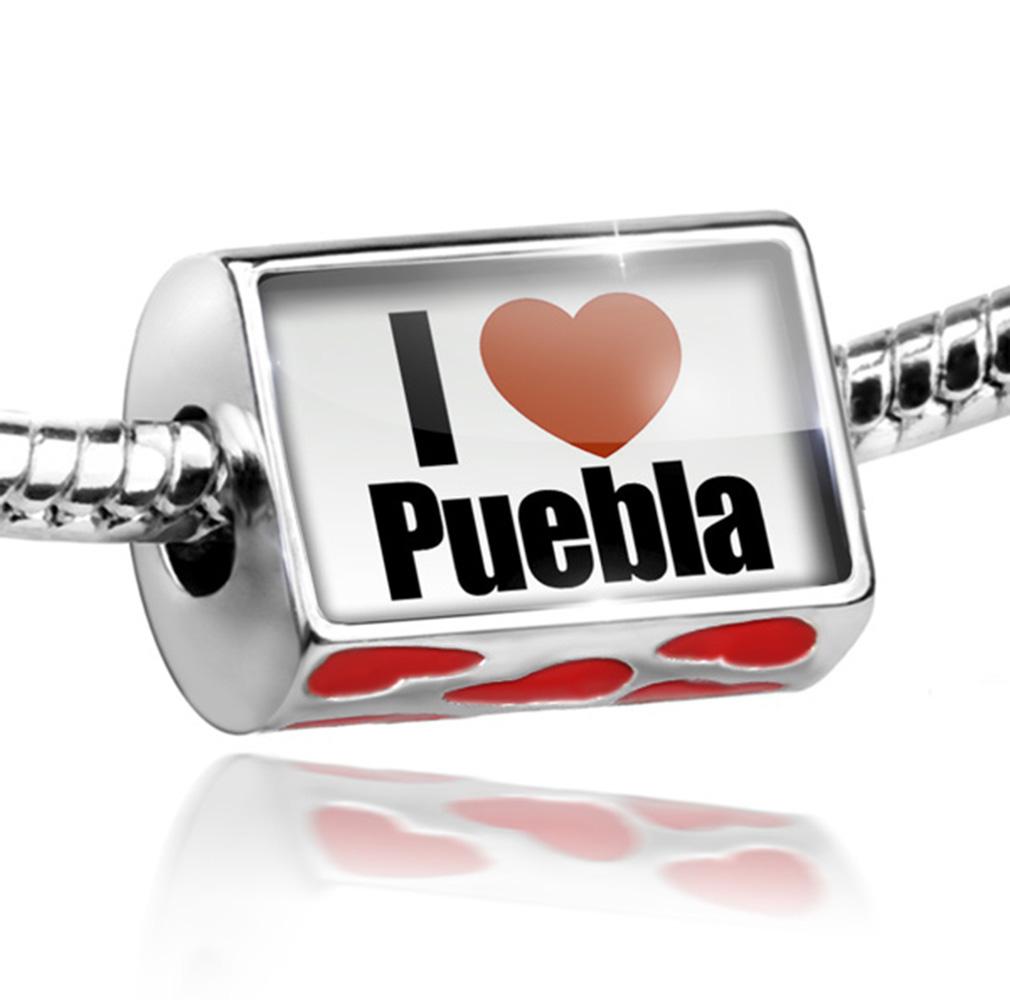 Bead I Love Puebla region: Mexico, North America Charm Fits All European Bracelets