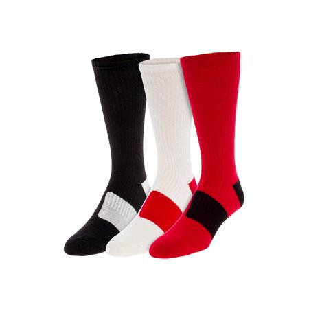 LISH 3 Pack Men's Cushioned Athletic Crew Basketball Sport Socks Adidas Athletic Crew Socks