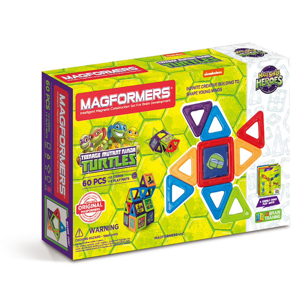 MagFORMERS Teenage Mutant Ninja Turtles 60-Piece Magnetic Construction Set by Magformers