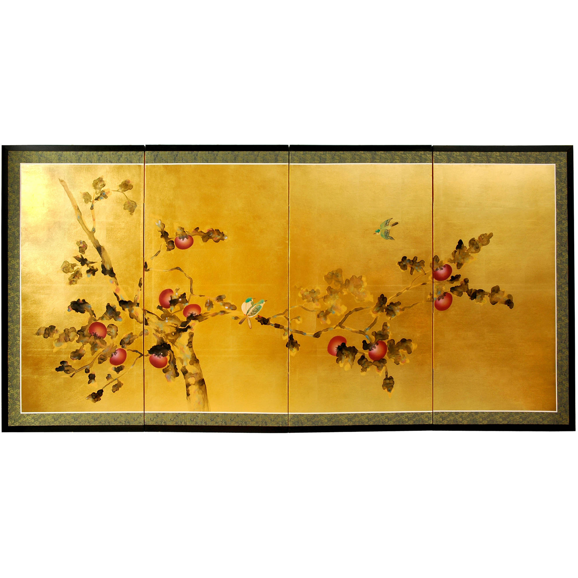 Gold Leaf Cherry Blossom Silk Screen