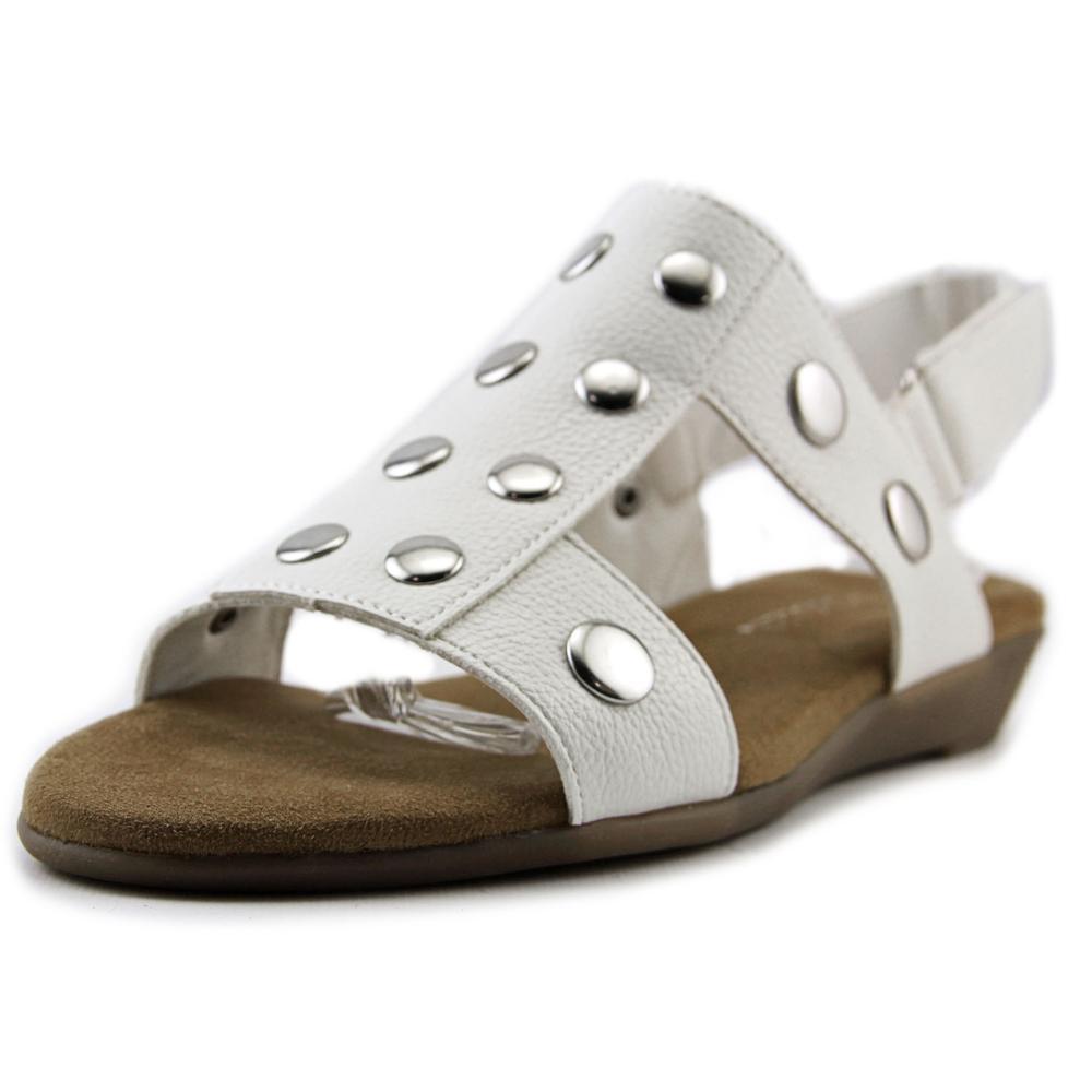 Image of Aerosoles At Heart Women Open-Toe Synthetic White Slingback Sandal