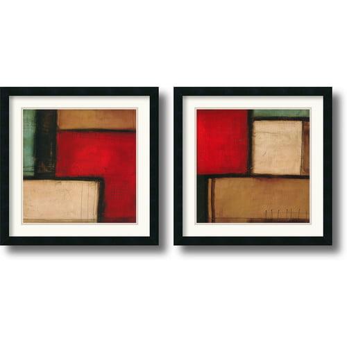 Merge & Yield Framed Wall Art - Set of 2 - 22W x 22H-inch