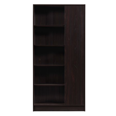 - Annabelle Mid Century Finished Faux Wood Bookcase, Walnut