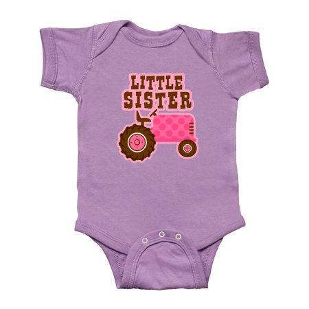 Pink Tractor - Pink Tractor Little Sister Infant Creeper