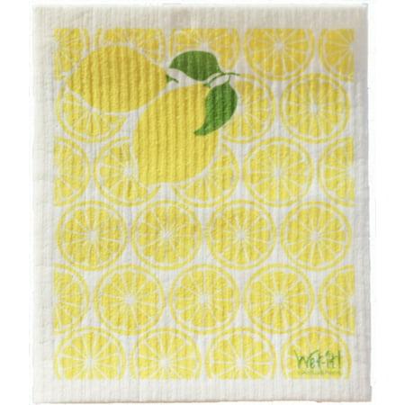 Wet-It Lemonade Lemons Swedish Kitchen Bathroom Garage Dishcloths Towel (Yellow In Swedish)