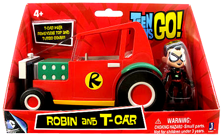Teen Titans Go! Robin and T-Cart Figure & Vehicle by Jazwares, Inc.