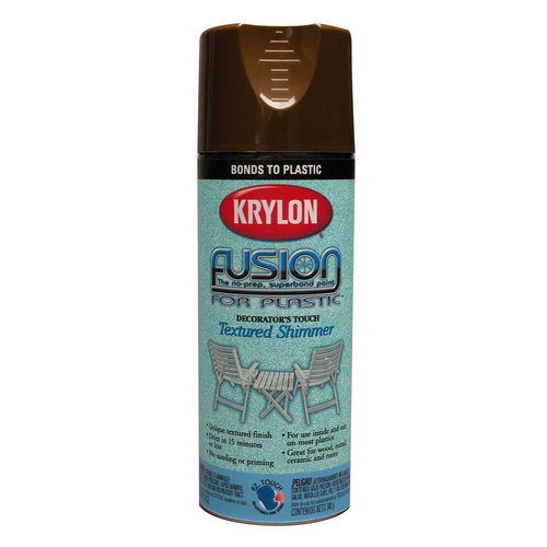 Krylon Cocoa Brown Fusion For Plastic Spray Paint Textured Shimmer (Set of 6)