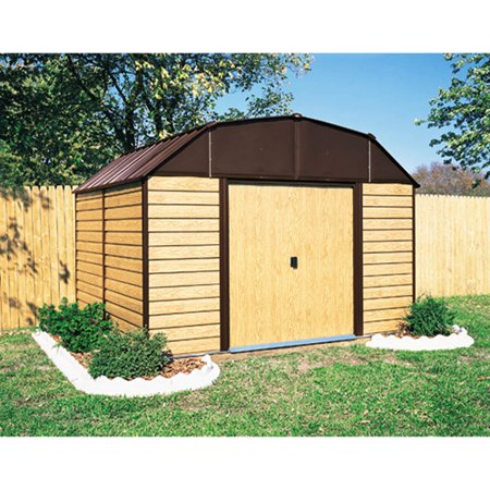 Arrow Woodhaven 10 x 14 Steel Storage Shed