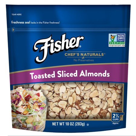 Fisher Toasted Sliced Almonds, No Preservatives, Non-GMO, (Tagua Nut Slices)