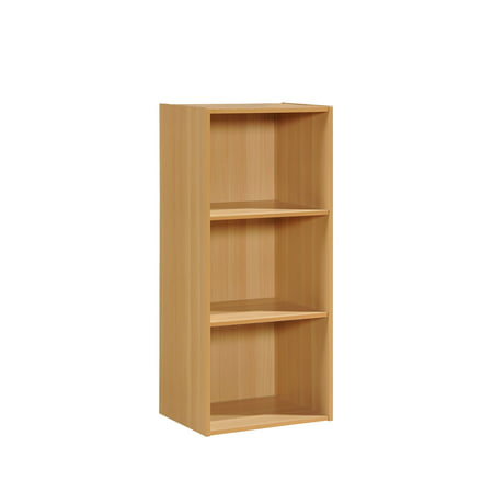 Hodedah 3-Shelf Bookcase, Multiple Colors