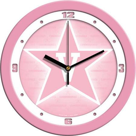 Commodore Clock - Vanderbilt Pink Wall Clock