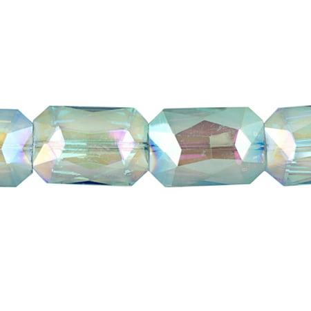 Crystal Bead, Center-Drilled Fancy Octagon , Clear Ab2x, 18x26x8mm