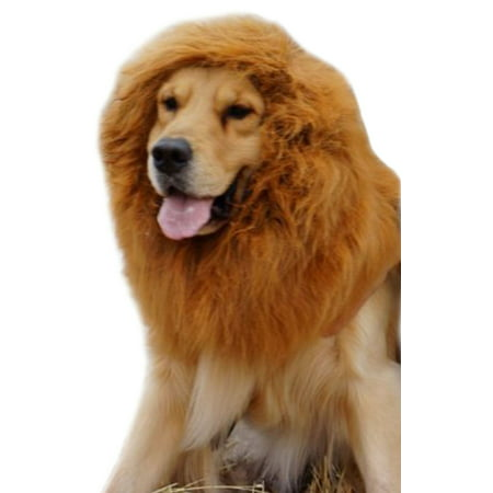 Pet Large Dog Costume Lion Mane Wig Hair Festival Fancy Dress -