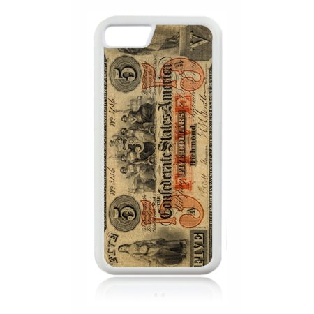 Confederate 5 Dollar Bill White Rubber Case for the Apple iPhone 6 Plus / iPhone 6s Plus - Apple iPhone 6 Plus Accessories -iPhone 6s Plus Accessories ()