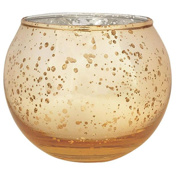 Just Artifacts 2 Inch Speckled Gold Round Mercury Glass Votive Candle Holder 25pcs Walmart Com Walmart Com