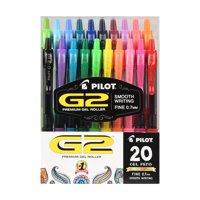 Pilot G2 Premium Gel Ink Pens, Fine Point, Asst, 20 Pack, 995510528