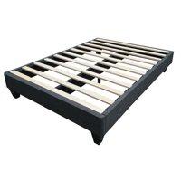 Lifestyle Solutions Nolan Twin Platform Bed Upholstery Fabric, Dark Grey